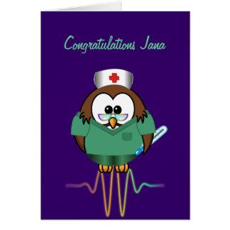sjuksköterskauggla hälsningskort