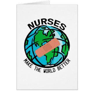Sjuksköterskavärld Notecard OBS Kort