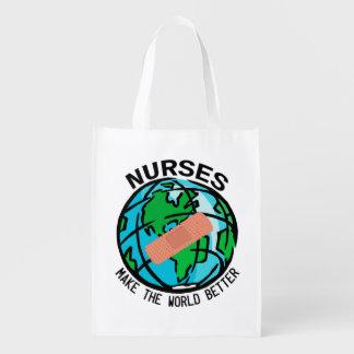 Sjuksköterskavärlden Reuseable hänger lös Återvinningsbar Matkasse