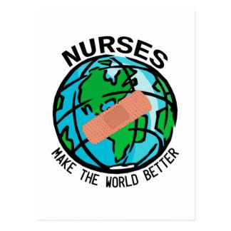 Sjuksköterskavärldsvykort Vykort