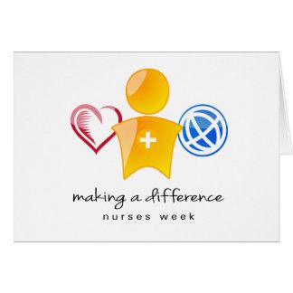 Sjuksköterskavecka Notecard OBS Kort