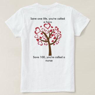 Sjuksköterskor är hjältar för t-shirts
