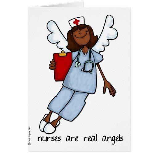 sjuksköterskor är verklig änglar hälsnings kort