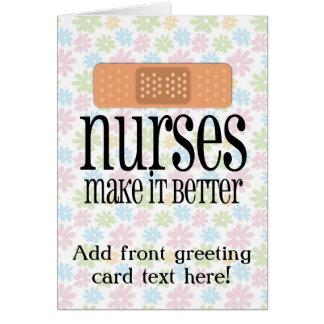 Sjuksköterskor gör det förbättrar, den gulliga hälsningskort