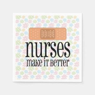 Sjuksköterskor gör det förbättrar, den gulliga servett