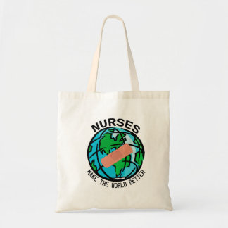 Sjuksköterskor gör världen bättre att hänga lös tygkasse
