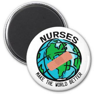 Sjuksköterskor gör världen den bättre magneten magnet rund 5.7 cm