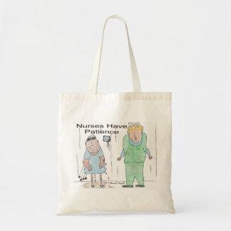 Sjuksköterskor har patiens kassar