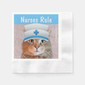 Sjuksköterskor härskar servett