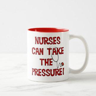 Sjuksköterskor kan ta pressa Två-Tonad mugg