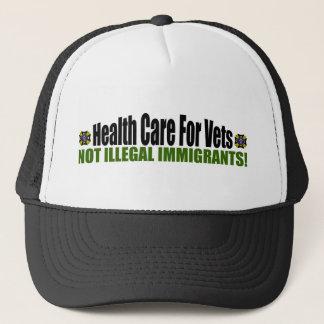 Sjukvård för Vets: Inte illegal invandrare! Truckerkeps