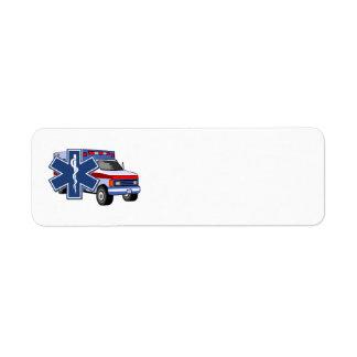 Sjukvårdare för EMS-ambulans EMT Returadress Etikett