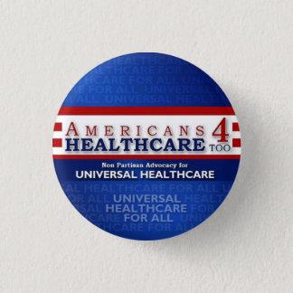 Sjukvården för amerikaner 4 knäppas för mini knapp rund 3.2 cm