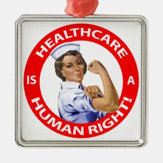 """Sjukvården för sjuksköterska""""Rosie"""" något att säga Julgransprydnad Metall"""