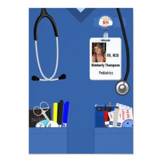Sjukvårdstudenteninbjudan 12,7 X 17,8 Cm Inbjudningskort