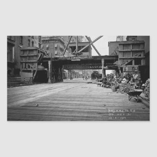 Sjunde aveny och 53rd gataNew York City foto Rektangulärt Klistermärke