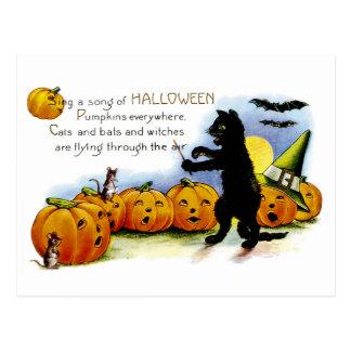 Sjunga en sång av Halloween Vykort