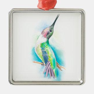 Sjunga för Hummingbird Julgransprydnad Metall