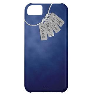 Sjungan levande, dansen och kärlek på blått röker iPhone 5C fodral