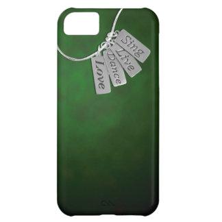 Sjungan levande, dansen och kärlek på grönt röker iPhone 5C fodral