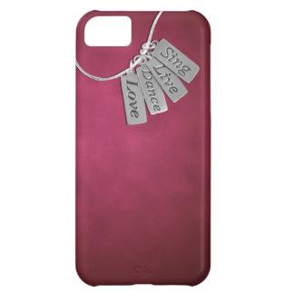 Sjungan levande, dansen och kärlek på rosor röker iPhone 5C fodral