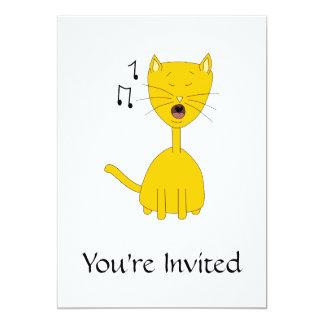 Sjungande Cat. 12,7 X 17,8 Cm Inbjudningskort