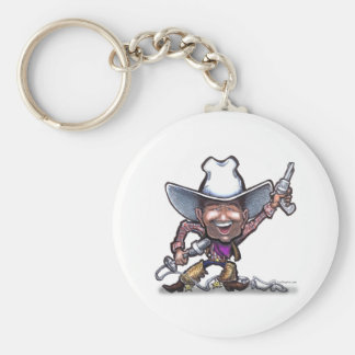 Sjungande Cowboy Rund Nyckelring