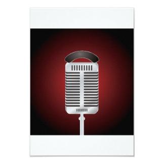 Sjungande mikrofoninbjudningar 8,9 x 12,7 cm inbjudningskort
