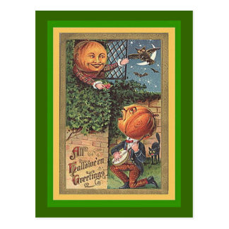Sjungande pumpaman för vintage vykort