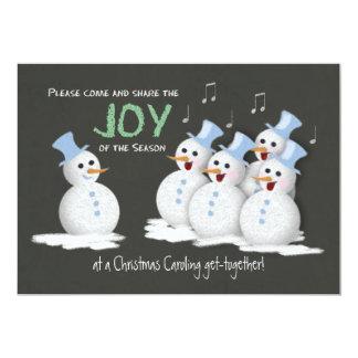 Sjungande snögubbear för julCaroling party glädje 12,7 X 17,8 Cm Inbjudningskort