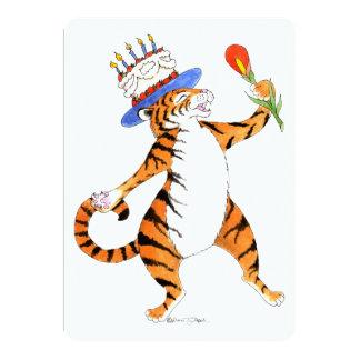 Sjungande tigerfödelsedagsfest inbjudan