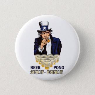 Sjunka det drinken det Abe Lincoln Standard Knapp Rund 5.7 Cm