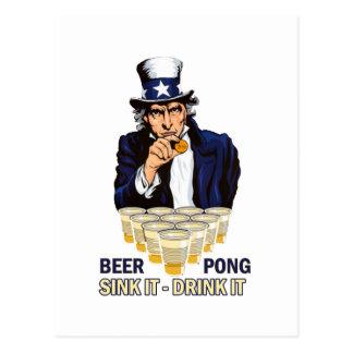 Sjunka det drinken det Abe Lincoln Vykort