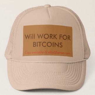 Ska arbete för det eZaZZleMan Bitcoins Truckerkeps