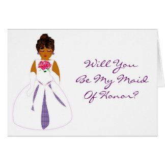 Ska dig är kortet för min maid of honor - anpass