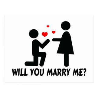 Ska dig att gifta sig mig böjde den knämanen & vykort