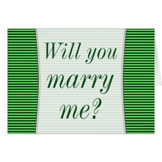 """""""Ska dig att gifta sig mig?"""", + Gröntrandar Hälsningskort"""