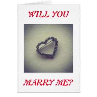 Ska dig att gifta sig mig? hälsningskort