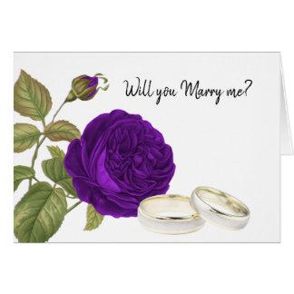 Ska dig att gifta sig mig, lilaro hälsningskort