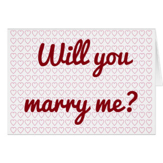 """""""Ska dig att gifta sig mig?"""", + Lilla hjärtaShapar Hälsningskort"""