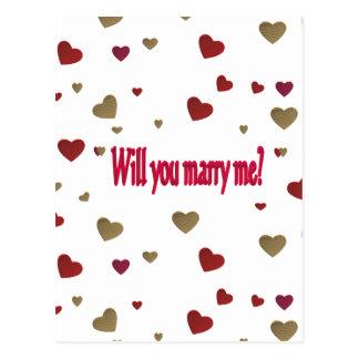 Ska dig att gifta sig mig? vykort