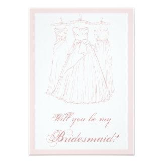 Ska dig var min brudtärna? 12,7 x 17,8 cm inbjudningskort