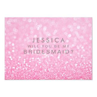 Ska dig var min brudtärna guld- rosa Ombre 12,7 X 17,8 Cm Inbjudningskort