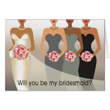 Ska dig var min brudtärna? Kol för brudens sida | Hälsningskort