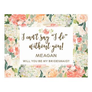 Ska dig var min brudtärnakortpersonlig vykort