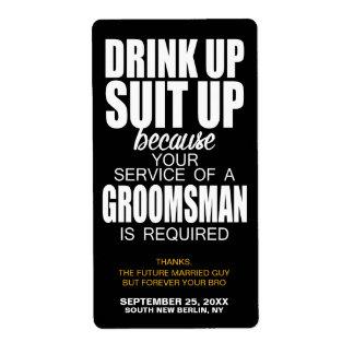 Ska dig var min Groomsman? Etikett för Fraktsedel
