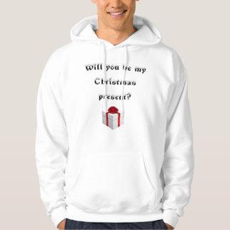 Ska dig var min julklapp? sweatshirt med luva