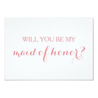 Ska dig var min maid of honorkortbrudens sida 8,9 x 12,7 cm inbjudningskort