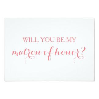 Ska dig var min Matron av hederkortbrudens sida 8,9 X 12,7 Cm Inbjudningskort