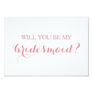 Ska dig var mitt kort för brudtärnakortbrudens 8,9 x 12,7 cm inbjudningskort